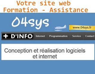 Création Site Internet, Formation , Etude et développement de logiciels spécifiques